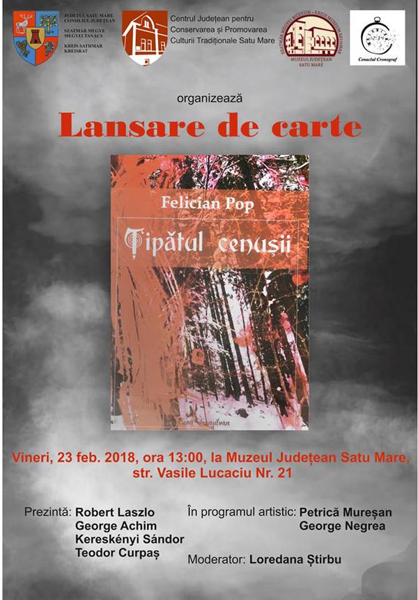 """""""Țipătul cenușii"""". Cartea va fi lansată la Muzeul Județean"""