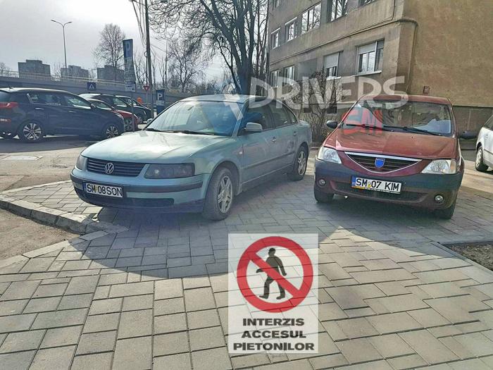 Au parcat … lângă parcare (Foto)