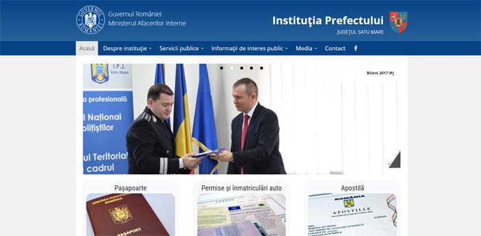 Instituția Prefectului are o nouă pagină web. Cum arată noul format