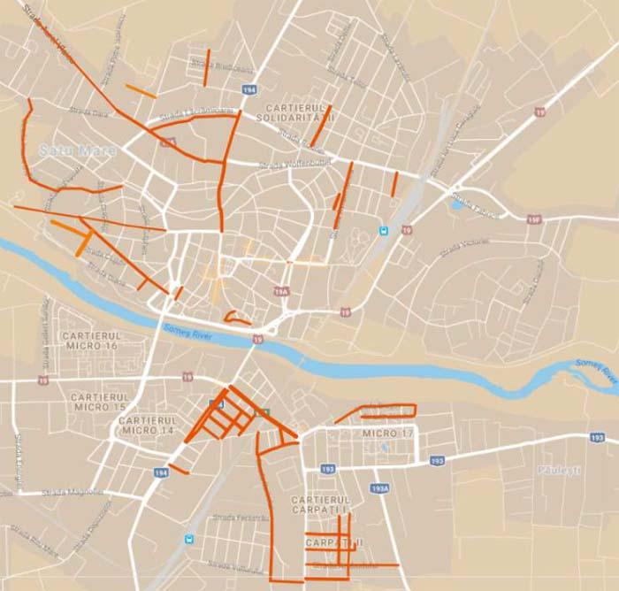 Zeci de străzi vor fi reabilitate în acest an