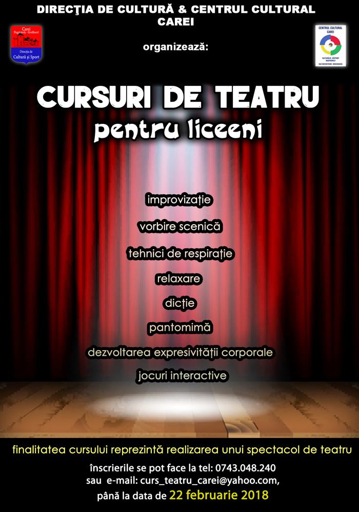 Cursuri de teatru pentru liceeni