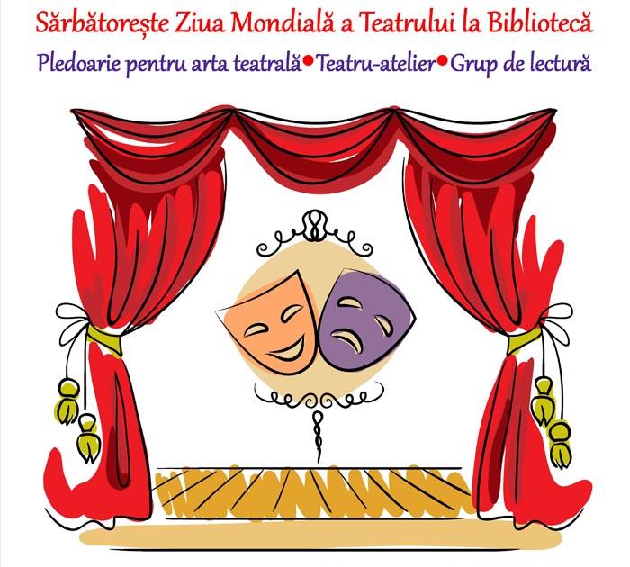 """Biblioteca Județeană Satu Mare marchează """"Ziua Mondială a Teatrului"""""""