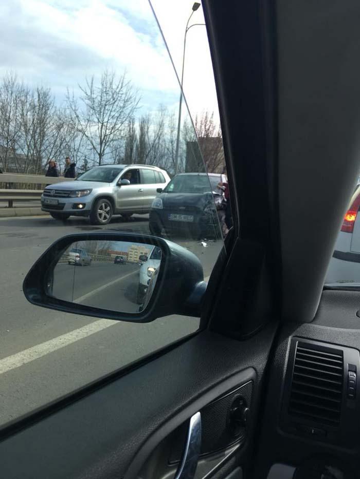 Accident pe Podul Decebal (Foto)