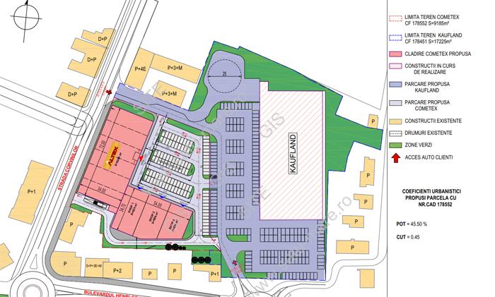 Altex construiește un parc comercial la Satu Mare. În ce zonă (Fotoplan)