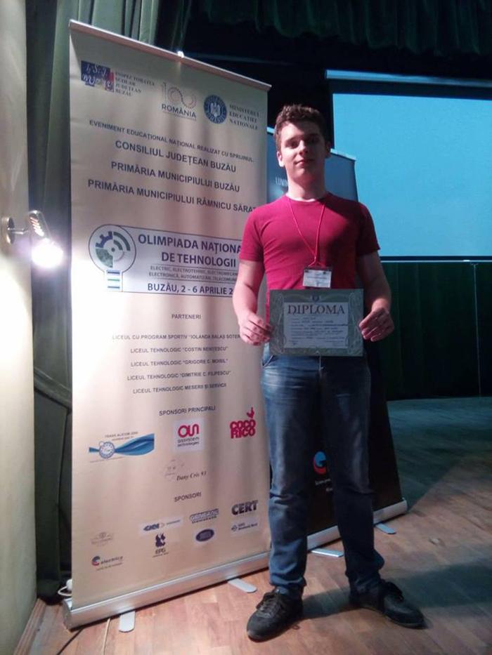 Elev din Satu Mare, mențiune la Olimpiada Națională de Tehnologii