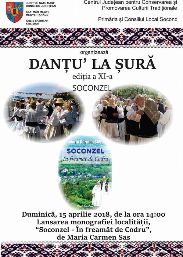 """""""Danțu' la șură"""", duminică, în Soconzel"""