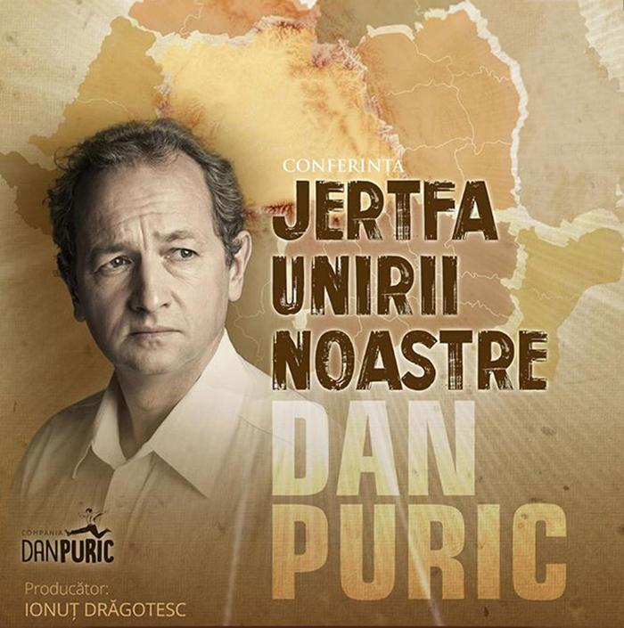 Dan Puric va susține o conferință la Carei
