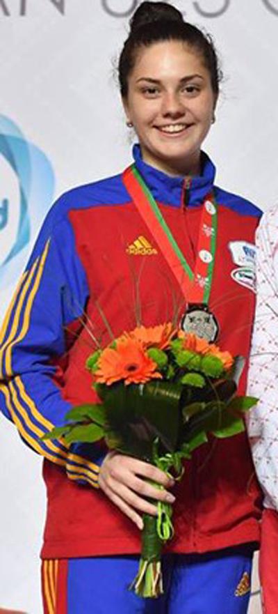 Sătmăreanca Amalia Tătăran, campioană națională la spadă