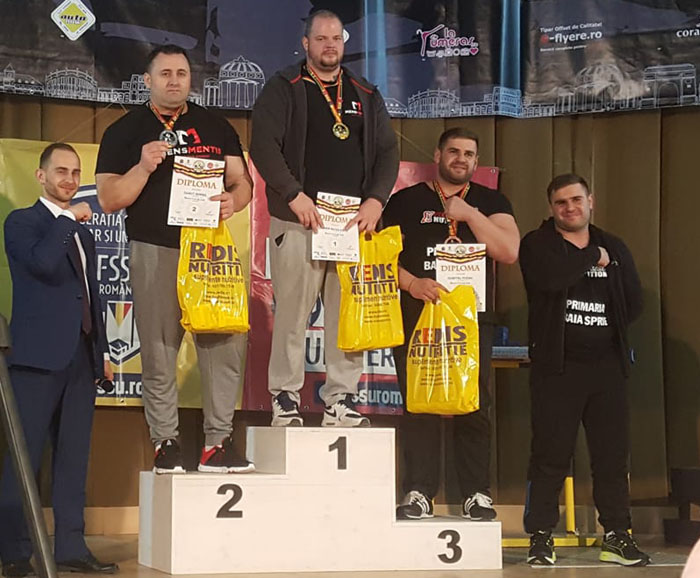 Dumitru Podac, medaliat cu bronz la naționalele de skandenberg