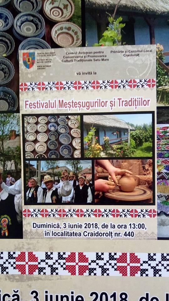 Meșterii tradiționali așteptați la festivalul de la Craidorolț