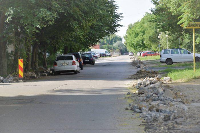 Strada Fântânele a intrat în reabilitare (Foto)