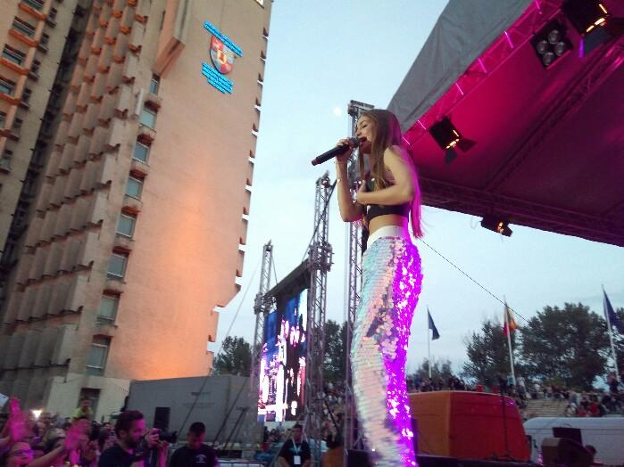 Iuliana Beregoi, a facut show la Satu Mare (Foto)
