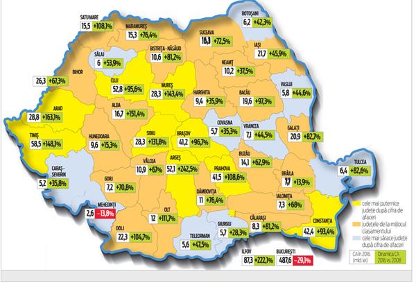 Harta de business a României. Ce loc ocupă Satu Mare