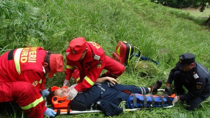 Incendiu cu explozie langa Huta Certeze. Doua victime – exercitiu (Fotogalerie)