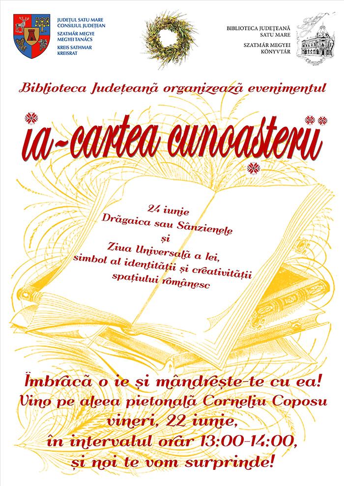 Ziua Universala a Iei va fi marcata la Biblioteca Judeteana