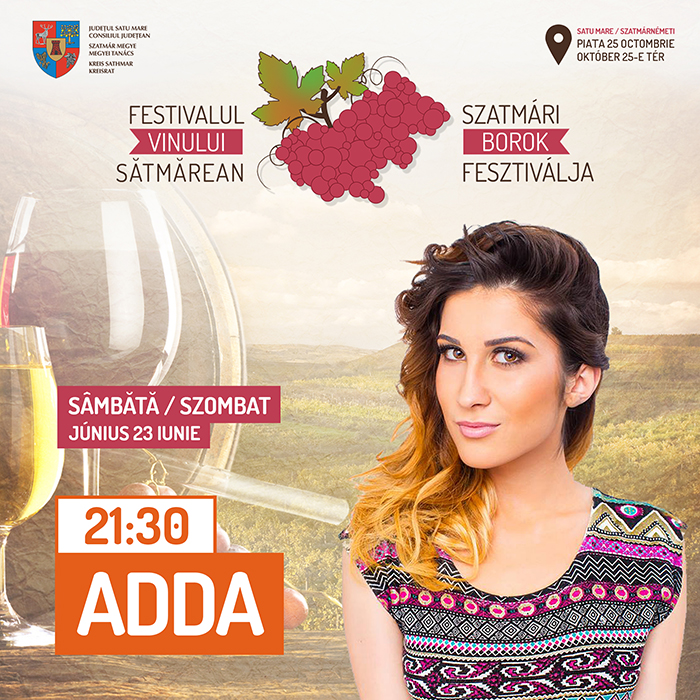 ADDA va concerta la Festivalul Vinului Satmarean (Foto)