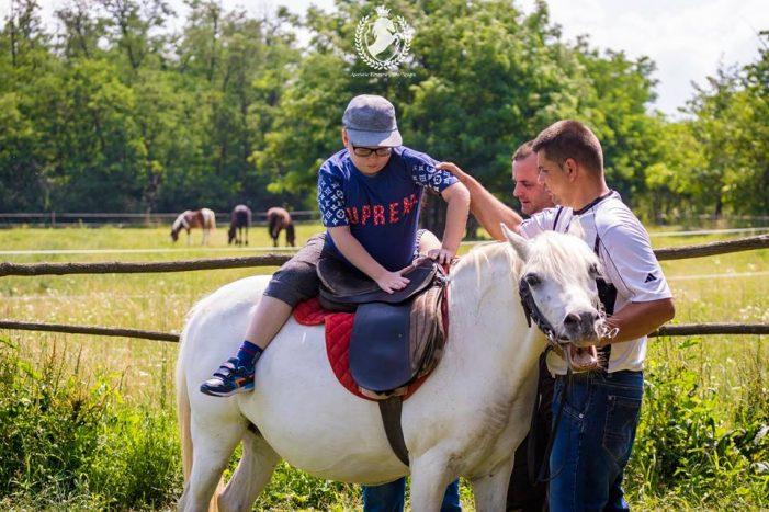 Caii, terapie pentru copiii cu autism (Foto)