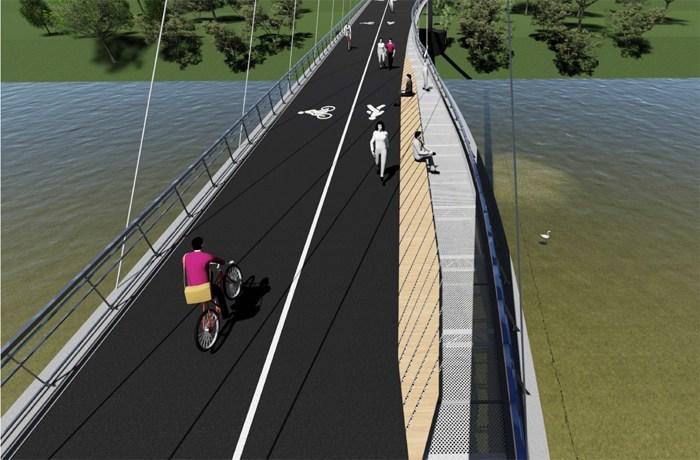 Finantarea este asigurata pentru podul pietonal peste raul Somes