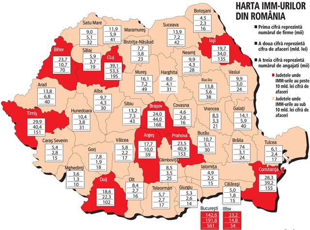 Harta IMM-urilor din Romania. Ce loc ocupa Satu Mare