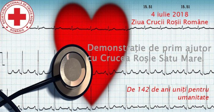 Demonstratii de prim-ajutor la Crucea Rosie Satu Mare