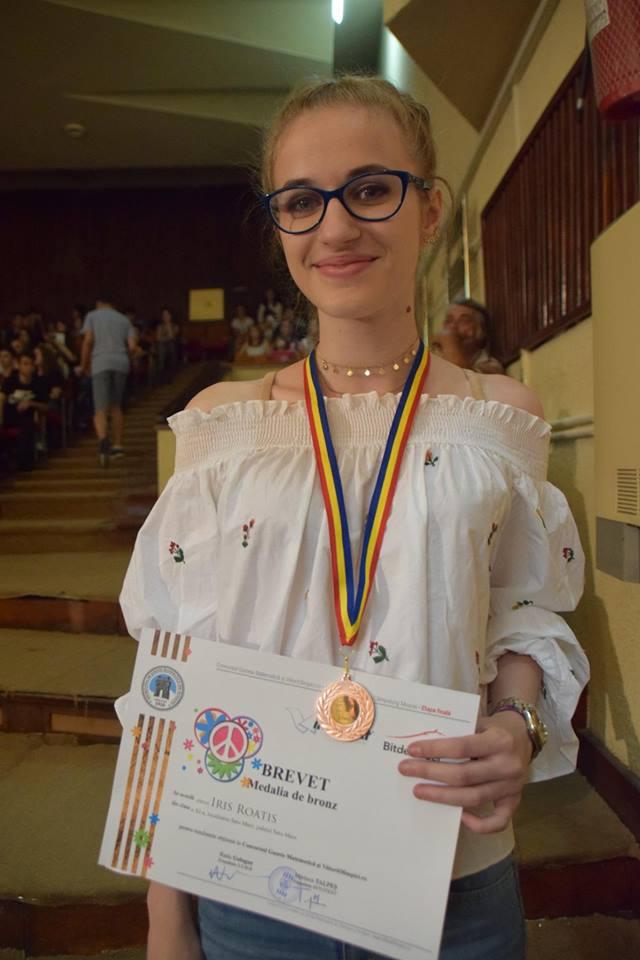 Iris Roatis, felicitata de primarul Kereskenyi Gabor