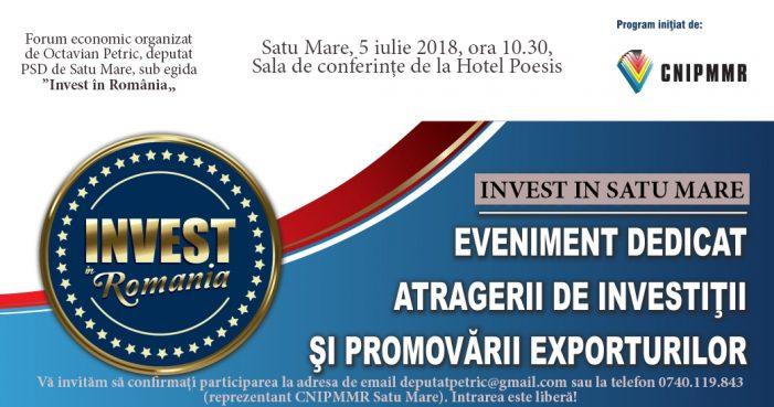 Cel mai mare eveniment economic al anului, la Satu Mare