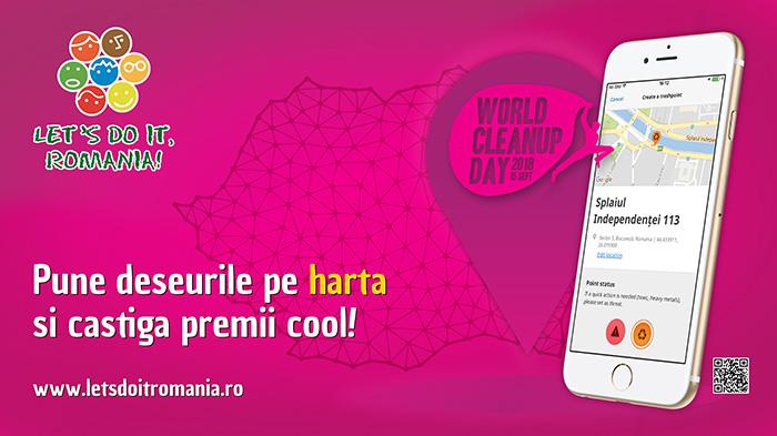 """""""Let`s Do It, Romania !"""" premiază cei mai implicați voluntari pentru realizarea Hărții Deșeurilor. Ce trebuie sa faci"""