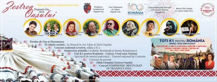 Zestrea Oașului, ediție specială de Centenar. Artiști și trupe de top la Negrești-Oaș