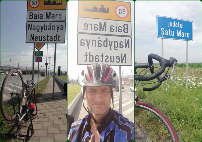 Un roman strabate tara pe bicicleta. A ajuns si in judetul Satu Mare (Foto)