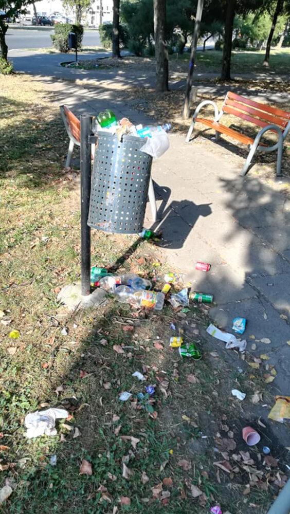 Mizerie de nedescris intr-un parc din Satu Mare (Foto)