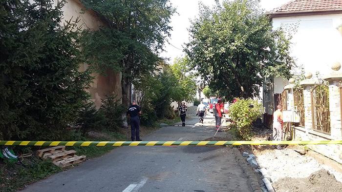 Pericol de explozie pe o strada din Satu Mare. Pompierii au intervenit de urgenta (Fotogalerie)