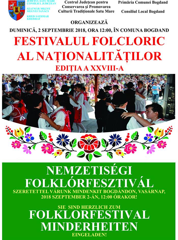 """""""Festivalul Folcloric al Naţionalităţilor"""" de la Bogdand la cea de-a XXVIII-a ediţie"""