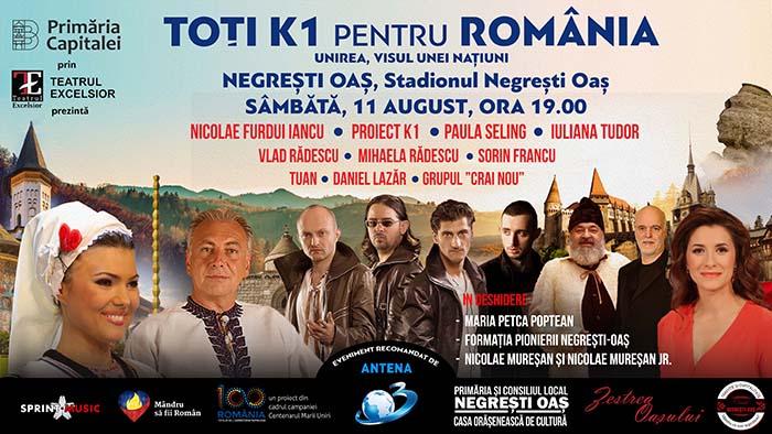 """""""Toți K1 pentru România – Unirea, Visul unei Națiuni"""", ajunge sâmbătă la Negrești-Oaș"""