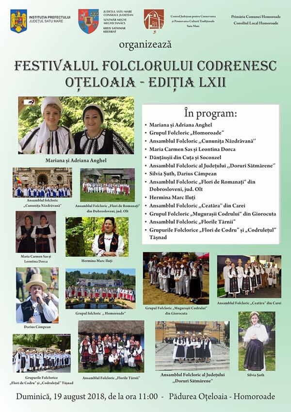Festival folcloric, duminica, pe lacul de la Oteloaia