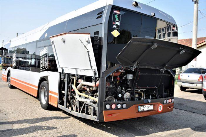 Autobuz hibrid pe strazile Satmarului (Foto)