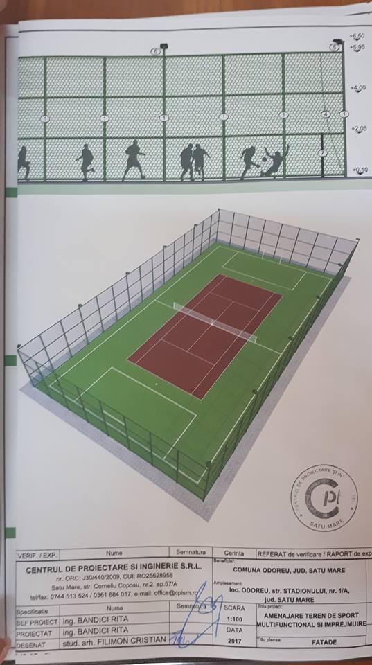 Teren de sport multifunctional in comuna Odoreu. Investitie de 40.000 de euro