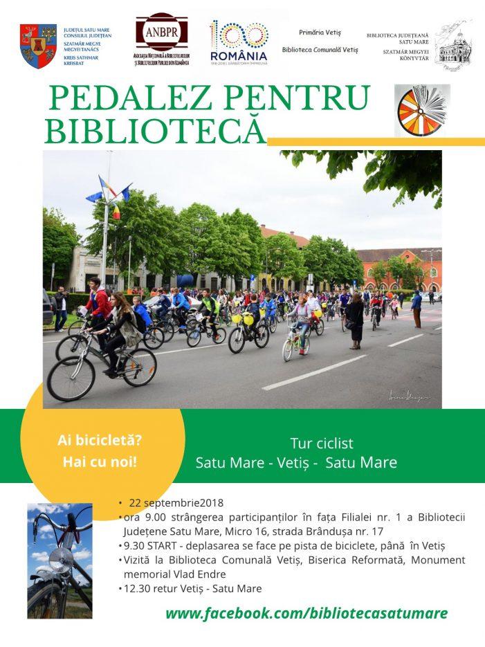 Satmarenii, pregatiti sa pedaleze pentru Biblioteca
