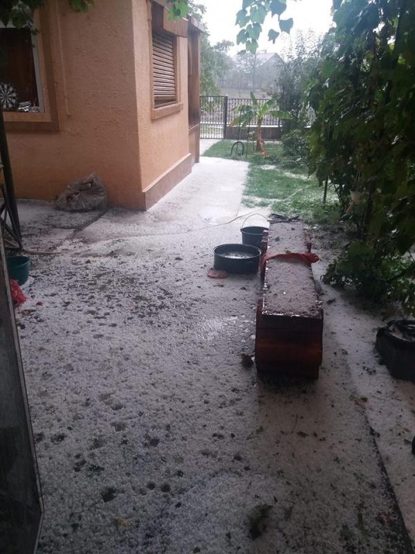 Grindina in zona Careiului. Localitatile afectate (Foto)