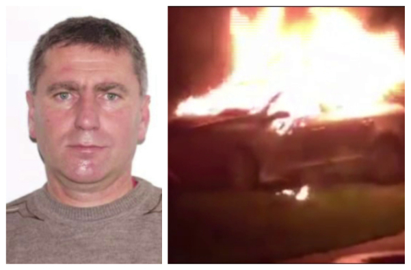 Un asistent de pe ambulanță, dat dispărut. Masina acestuia, distrusa de foc (Foto)