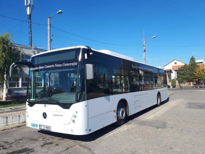 Un nou model de autobuz pe strazile municipiului (Foto)