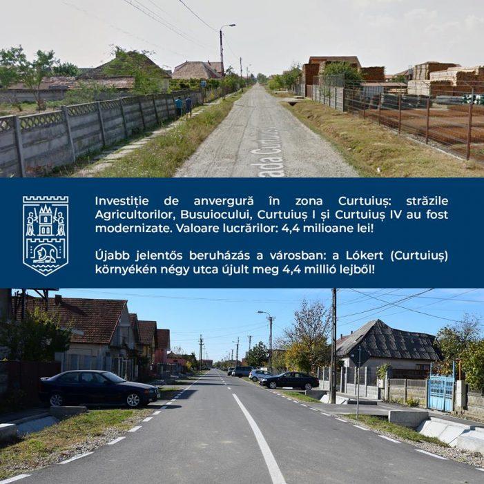 Zona Curtuius, modernizata. Investitie de 4,4 milioane de lei (Foto)