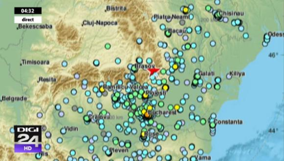 Cutremur in Romania. S-a simtit si in tarile invecinate