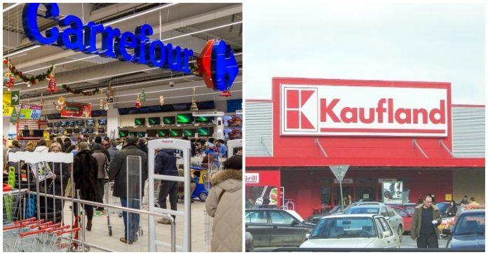 Carrefour vs Kaufland. Ce salarii se câștigă în cele două supermarketuri