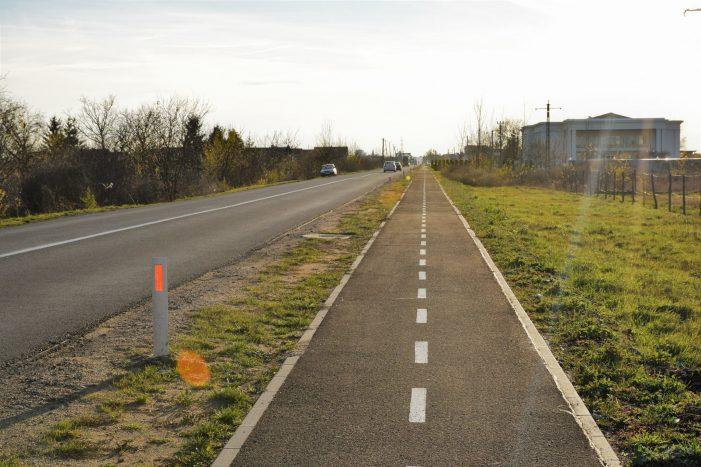 Pista de biciclete finantata din bani europeni (Foto)