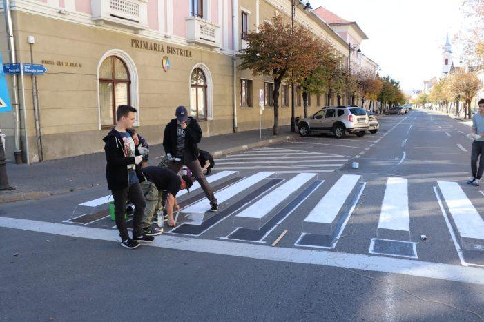 Campanie de amenajare a zebrelor 3D intr-un judet din Romania. Pe cand si in judetul Satu Mare