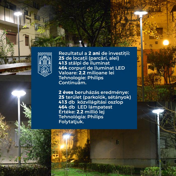 Investitie de milioane de lei pentru iluminatul public (Foto)
