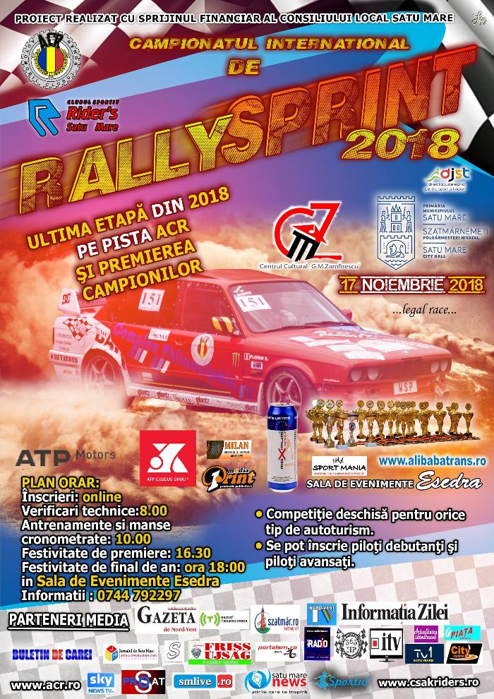 Campionatul de Rally Sprint, la ultima etapa din acest an