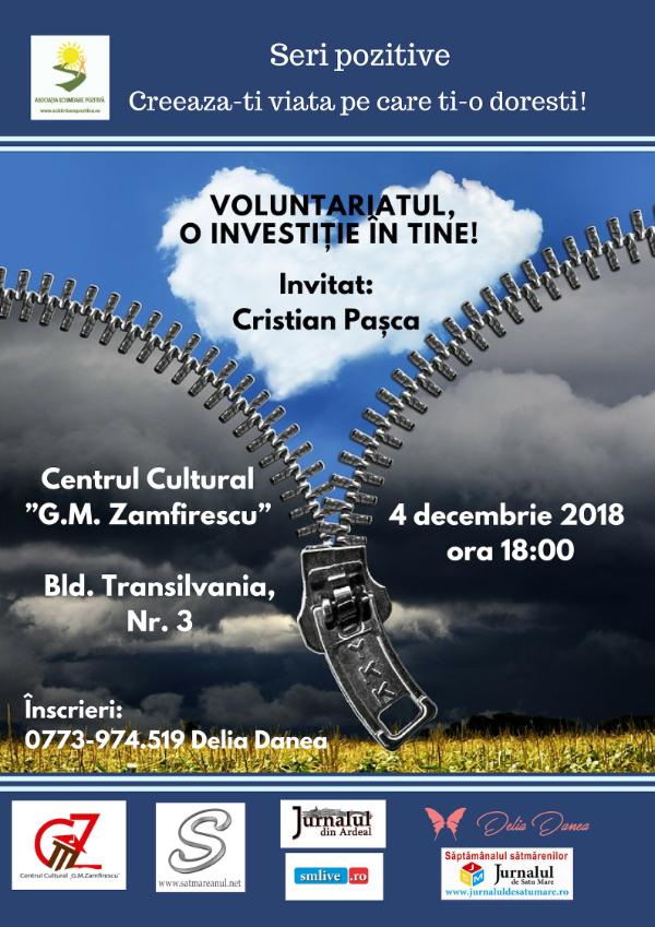 """Seri Pozitive: """"Voluntariatul, o investiție în tine!"""""""