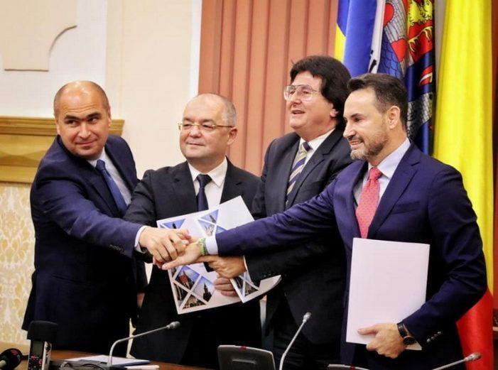 Alianta Vestului ! Patru primari si-au dat mana pentru a dezvolta zona de vest a Romaniei (Foto)