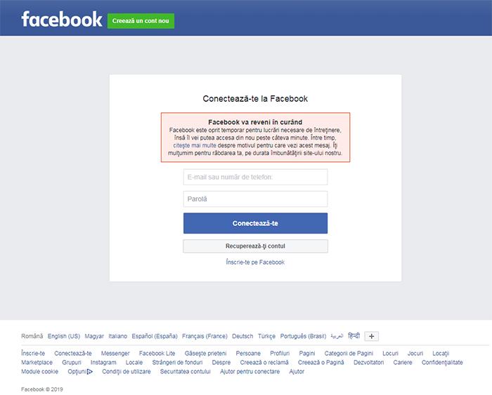 A CĂZUT Facebook